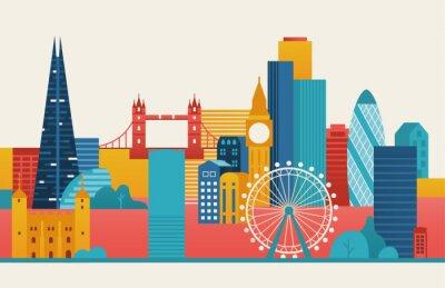 Наклейка Лондонский городской иллюстрации.
