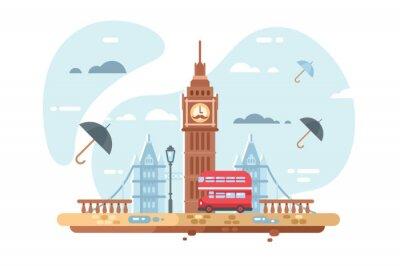 Наклейка Лондонский городской пейзаж
