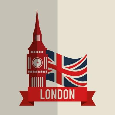 Наклейка лондон дизайн иконок