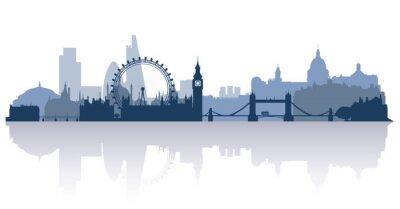 Наклейка Лондон в плоском стиле вектор