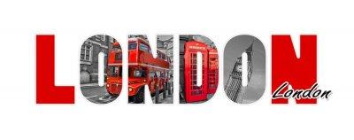 Наклейка Лондон письма, изолированных на белом фоне, путешествия и туризм в концепции Великобритании