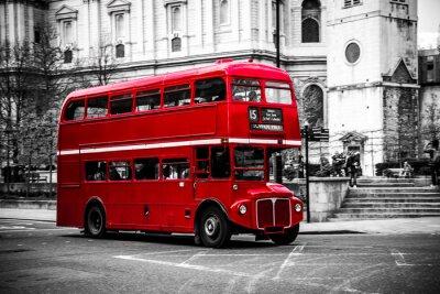 Наклейка Лондона знаковых двухэтажный автобус.