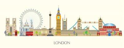 Наклейка London skyline vector 7