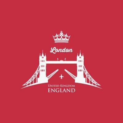 Наклейка символ London Tower Bridge