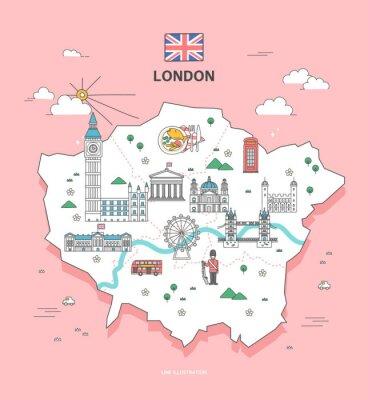 Наклейка London Travel Landmark Collection