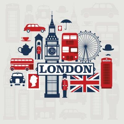 Наклейка Лондон вектор набор