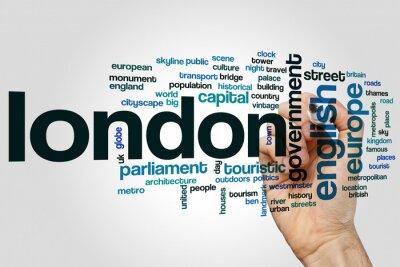 Наклейка Лондон слово облако
