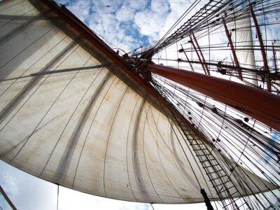 Наклейка глядя на паруса на tallship