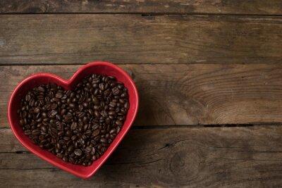 Наклейка любовь к кофе,