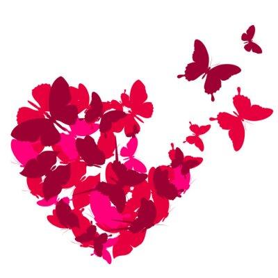 Наклейка люблю сердца,