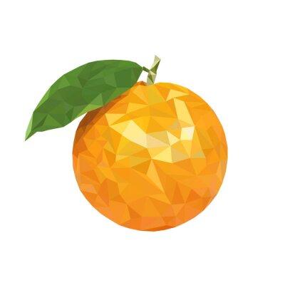 Наклейка Низкий поли оранжевый