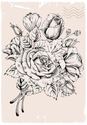 Наклейка Luxury rose