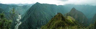 Наклейка Мачу-Пикчу панорамное
