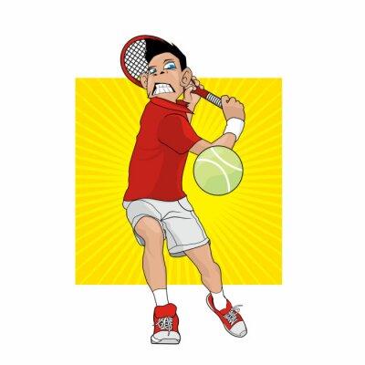 Наклейка Mad Теннисист