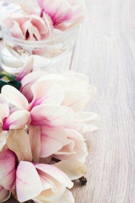 Наклейка цветы магнолии