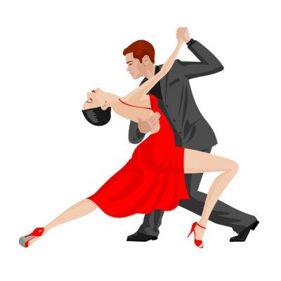 Наклейка мужчина и женщина, танцы