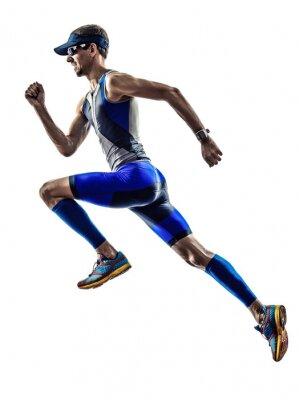 Наклейка Человек триатлону Ironman спортсмен бегунов работает
