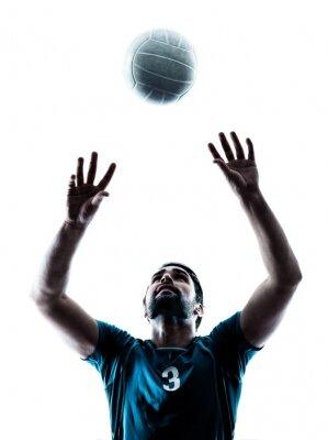Наклейка Человек волейбол силуэт