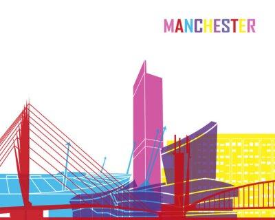 Наклейка Манчестер горизонта поп