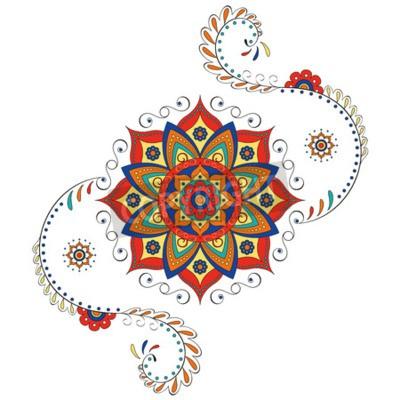 Наклейка Мандала Индус лотоса