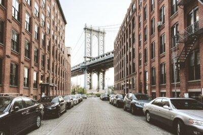 Наклейка Манхэттенский мост от Вашингтон-стрит, Бруклин