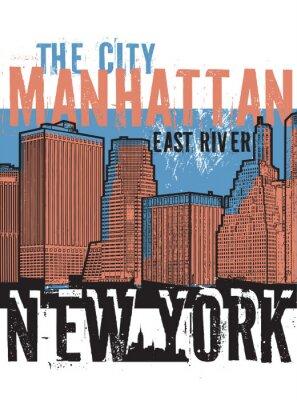 Наклейка Манхэттен, Нью-Йорк