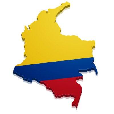 Наклейка Карта Колумбии