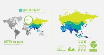 Наклейка Карта инфографики