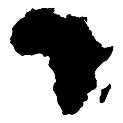 Наклейка Карта Африки