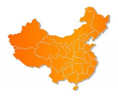 Наклейка Карта Китая