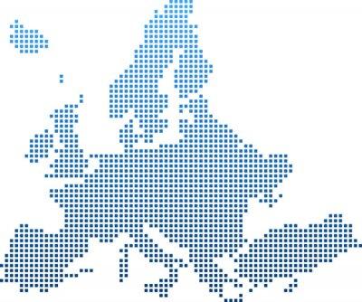 Наклейка map of Europe