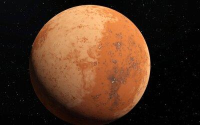 Наклейка Марс научно иллюстрация - планетарная пейзаж