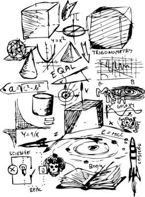 Наклейка математических символов