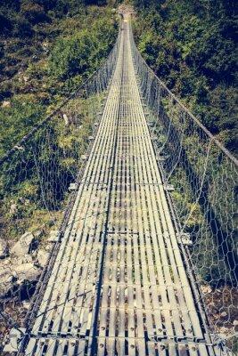Наклейка Металлический подвесной мост.