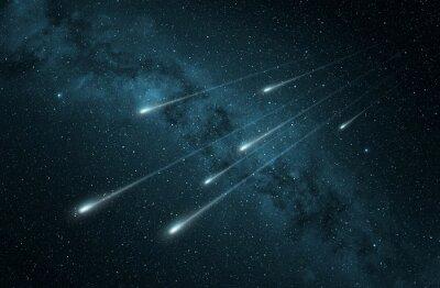 Наклейка метеоритный дождь в звездное ночное небо