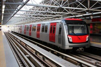 Наклейка Метро поезд на станции метро
