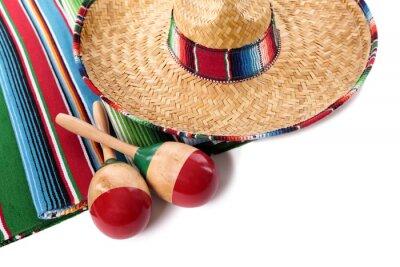 Наклейка Мексиканская одеяло и сомбреро