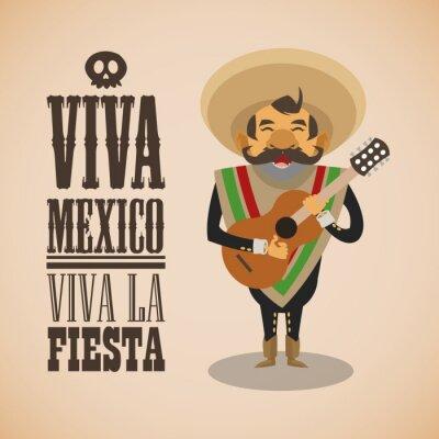 Наклейка Мексиканский дизайн культура