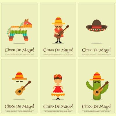 Наклейка мексиканские Плакаты