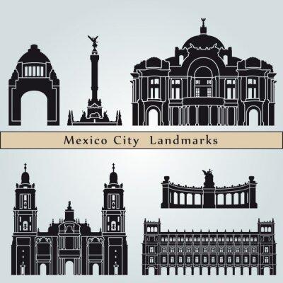 Наклейка Достопримечательности и памятники Мехико