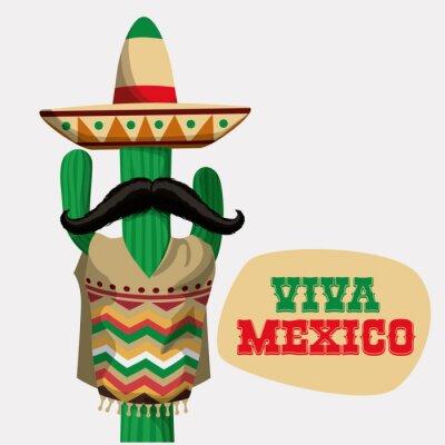 Наклейка Мексика дизайн.