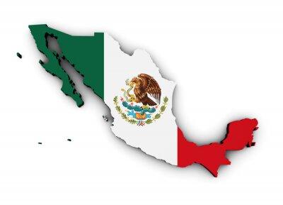 Наклейка Мексика Флаг Карта