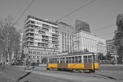 Наклейка Милан электронной трамвай в Ломбардии Милан и Италия поезда в Милан Италия