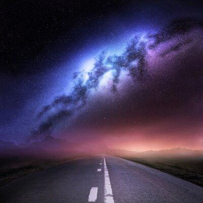 Наклейка Галактика Млечный Путь с Земли