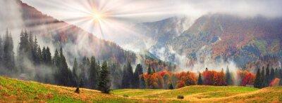 Наклейка Туманный осень Закарпатья