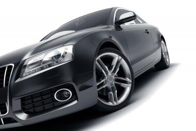 Наклейка Современный черный автомобиль