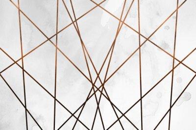 Наклейка Современный современный кремовый медный фон. Роскошная девичья текстура. Вкусный и чистый фон с геометрическими и художественными элементами.