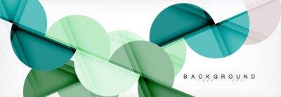 Наклейка Современный геометрический абстрактный фон - круги. Шаблон дизайна презентации бизнеса или технологии, шаблон брошюры или флаера или геометрический веб-баннер
