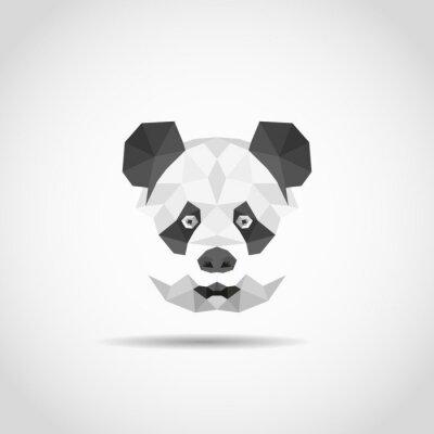 Наклейка Современные панды в стиле многоугольной