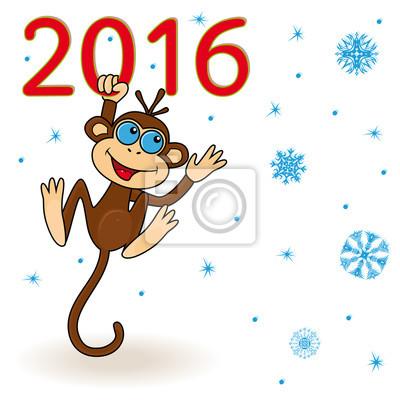 Обезьяна рисунки на новый год